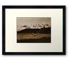 Cool sunset on the beach Framed Print