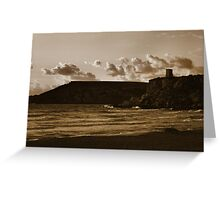 Cool sunset on the beach Greeting Card