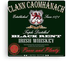Kavanagh Clan Vintage Irish Whiskey Canvas Print
