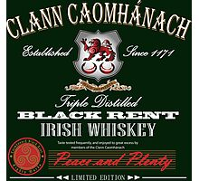 Kavanagh Clan Vintage Irish Whiskey Photographic Print