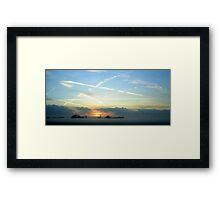 "December Sunset Holland Colour - ""In Holland staat en huis""  Framed Print"