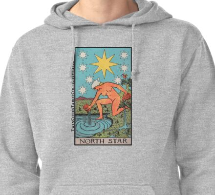 The (North) Star Tarot Card Pullover Hoodie