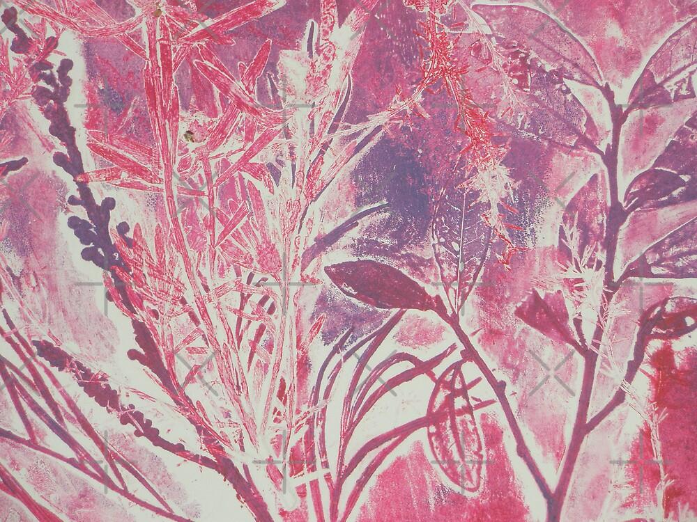 Monoprint plants by Marion Chapman