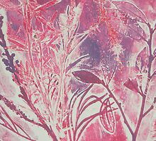 Monoprint plants by Marion Chapman