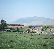 Farm cottage outside Pooley's Bridge Lake district England 198405230047m  by Fred Mitchell