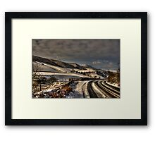 Tracks In The Snow Framed Print