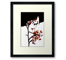 Face Framed Print