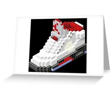 Air jordan V cube pixel Greeting Card