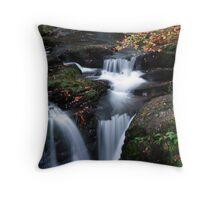 Torc River Falls Throw Pillow