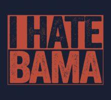 I HATE BAMA - University of Auburn Tigers Fan Shirt - Haters Gonna Hate - Orange Box Version by BeefShirts