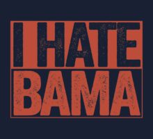I HATE BAMA - University of Auburn Tigers Fan Shirt - Haters Gonna Hate - Orange Box Version by BeefShirts