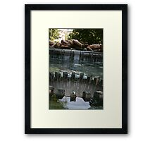 Sculpture Fountain Framed Print