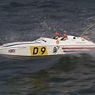 Model speedboat racing , offshore . by SWEEPER