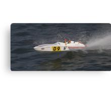 Model speedboat racing , offshore . Canvas Print