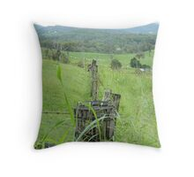 The old fence line  Throw Pillow