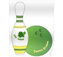 Pop Turtle Bowling design Poster