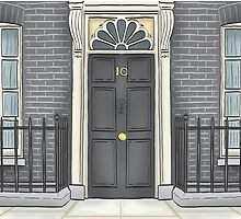 Number 10 Downing Street by MacKaycartoons