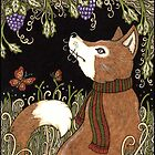 The Fox and the Grapes (Colour) by Anita Inverarity
