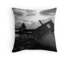 Brooding Wreck Throw Pillow