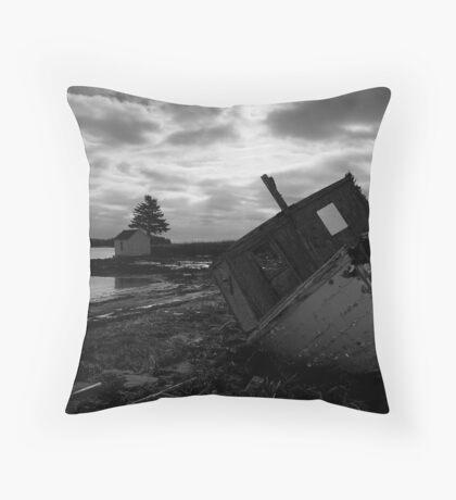 Brooding Wreck Throw Pillow