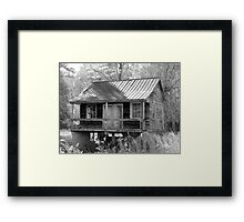 Old House At An Angle  Framed Print