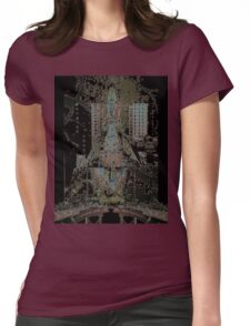 From Paris to New York Womens Fitted T-Shirt