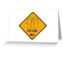 Flip flops only.  Greeting Card