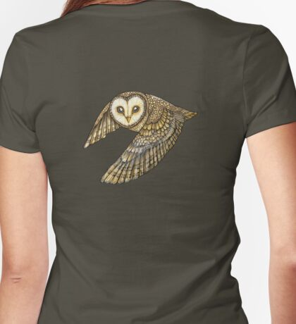 Silent Wings Womens Fitted T-Shirt