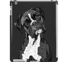 Black and White Boxer Art iPad Case/Skin