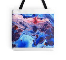 Dark Blue Marble Tote Bag