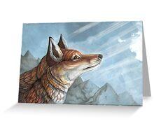 Sky Fox Greeting Card