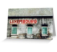 Luxembourg Greeting Card