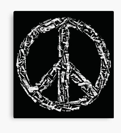 Weapon Peace black Canvas Print