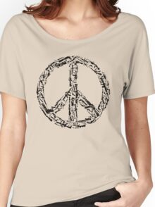 Weapon Peace white Women's Relaxed Fit T-Shirt