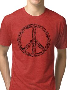 Weapon Peace white Tri-blend T-Shirt