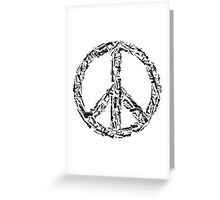 Weapon Peace white Greeting Card