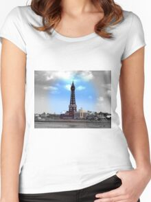 Blackpool Tower Women's Fitted Scoop T-Shirt