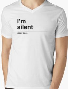 I'm silent (black) Mens V-Neck T-Shirt