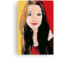 Digital Amy-lee Canvas Print