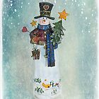 Happy Snowman  by Nicole  Markmann Nelson