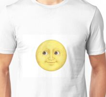 Yellow Moon Face Emoji Unisex T-Shirt