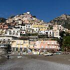 Positano Beach Italy by Kat Meezan