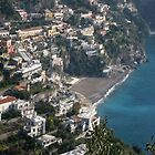 View of Positano by Kat Meezan