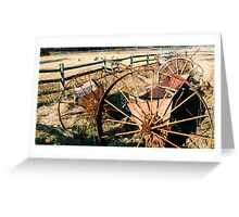 #257     Wheels, Fences, and Sheep Greeting Card