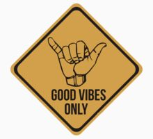 Shaka sign - Caution. Hang loose. Good vibes only. Surf style. by 2monthsoff