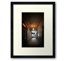 ..the Stag at the end of the Hall Framed Print