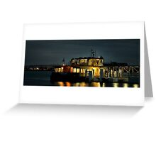 Newcastle to Stockton Ferry at Night - NSW Australia Greeting Card