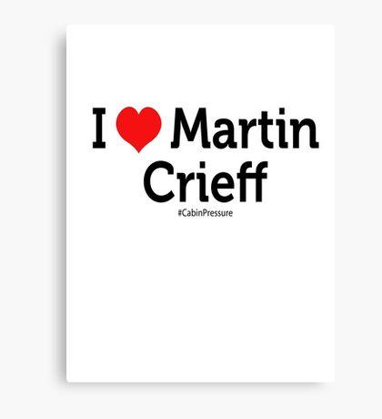 I Love Martin Crieff Canvas Print