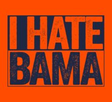 I HATE BAMA - University of Auburn Tigers Fan Shirt - Haters Gonna Hate - Blue Box Version by BeefShirts