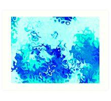 blue flame 2 Art Print